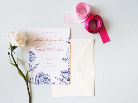 Vanilla Wedding Card