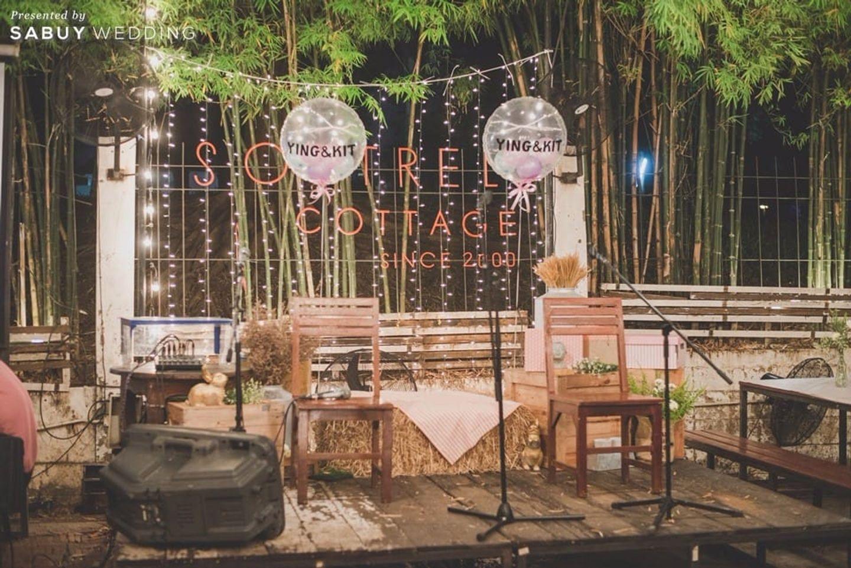 backdrop งานแต่ง,ตกแต่งงานแต่ง,งานแต่ง outdoor รีวิวงานแต่งธีมเท่ เก๋สุดไม่เหมือนใคร ใส่สีอะไรก็ได้ แต่ต้องมีลายกราฟิก @Sortrel Cottage
