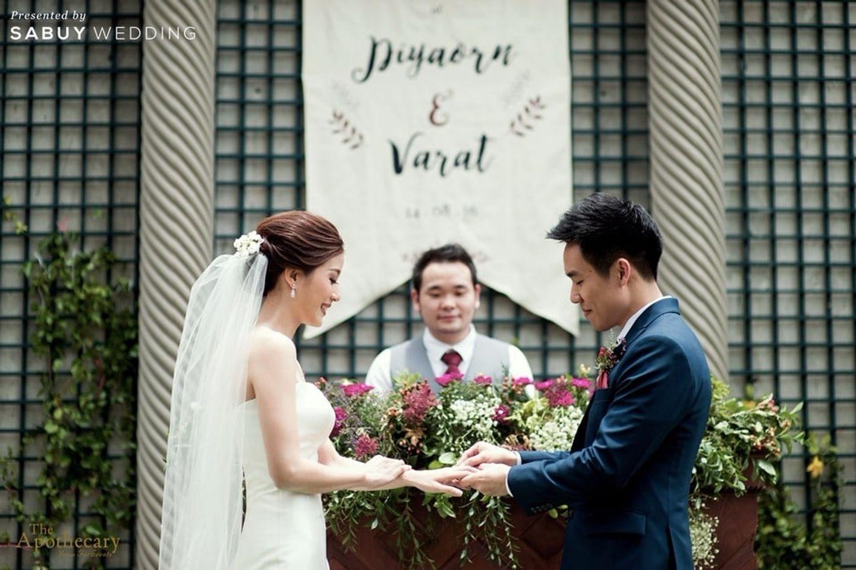 พิธีแต่งงาน,บ่าวสาว,ชุดบ่าวสาว,ตกแต่งงานแต่ง,งานแต่ง outdoor รีวิวงานแต่งสุดเก๋ สไตล์ยุโรป @The Apothecary Venue