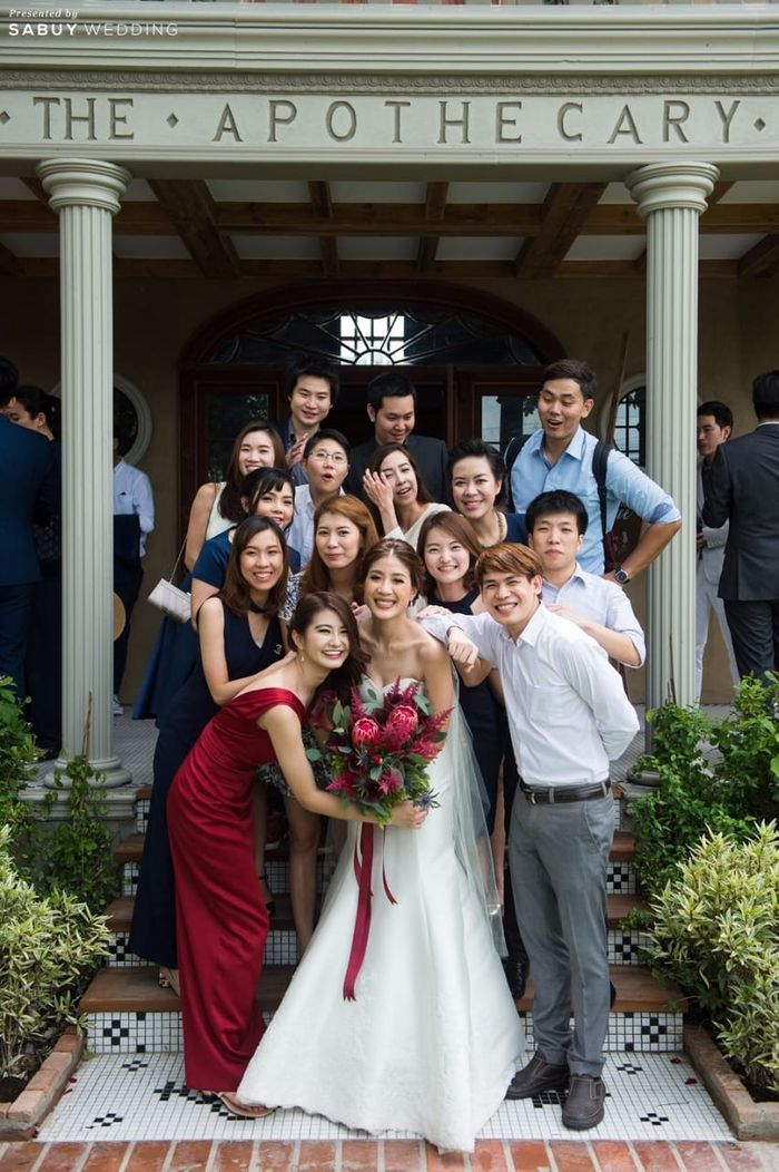 เจ้าสาว,ดอกไม้เจ้าสาว,เพื่อนเจ้าสาว,งานแต่งงาน รีวิวงานแต่งสุดเก๋ สไตล์ยุโรป @The Apothecary Venue