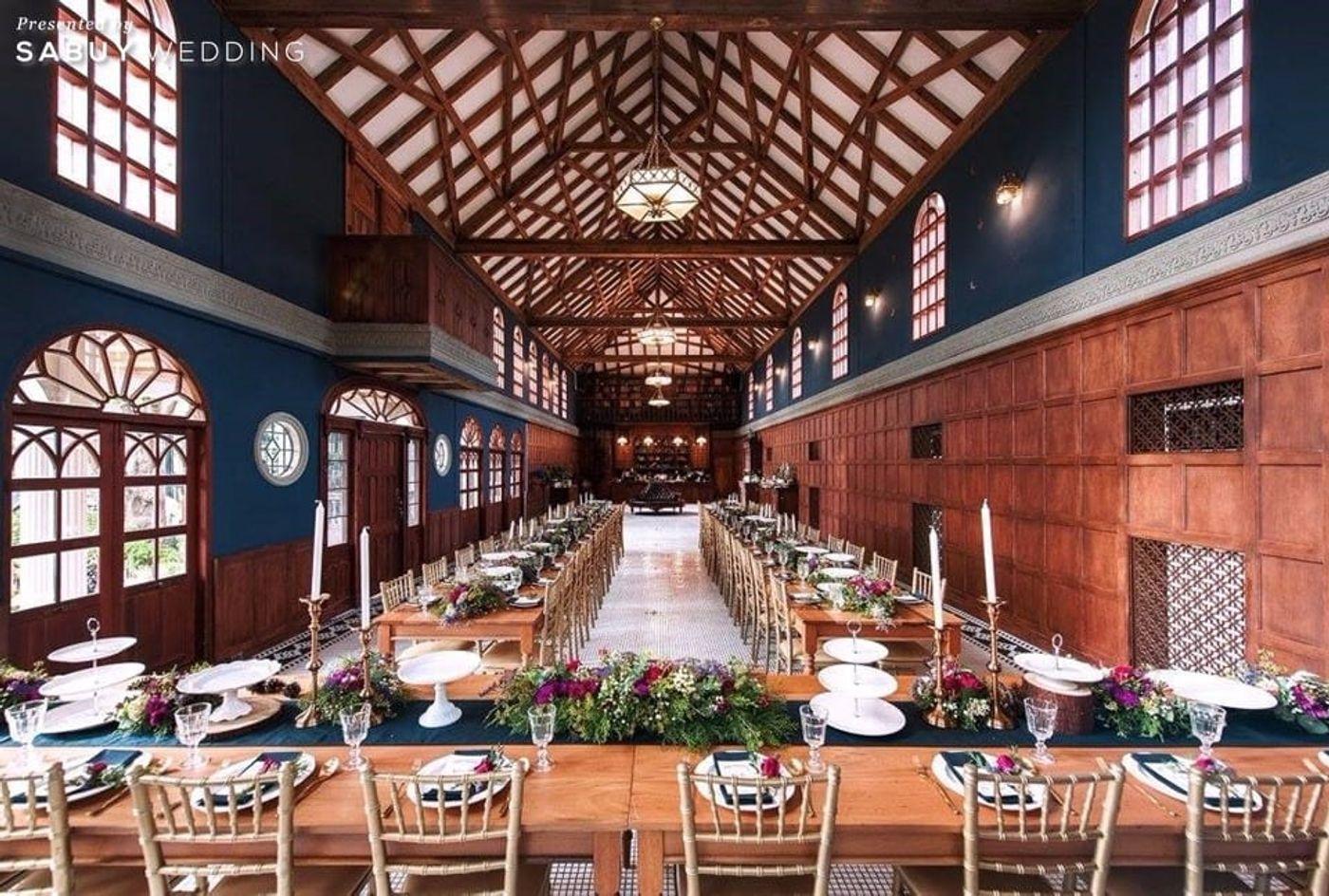 long-table,สถานที่แต่งงาน,สถานที่จัดงานแต่งงาน,ตกแต่งงานแต่ง รีวิวงานแต่งสุดเก๋ สไตล์ยุโรป @The Apothecary Venue