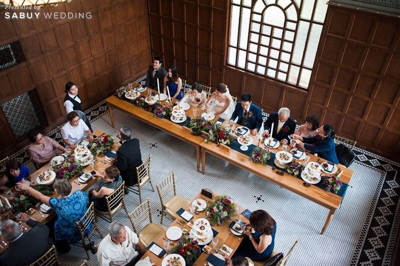 long-table,งานแต่งงาน,บ่าวสาว รีวิวงานแต่งสุดเก๋ สไตล์ยุโรป @The Apothecary Venue
