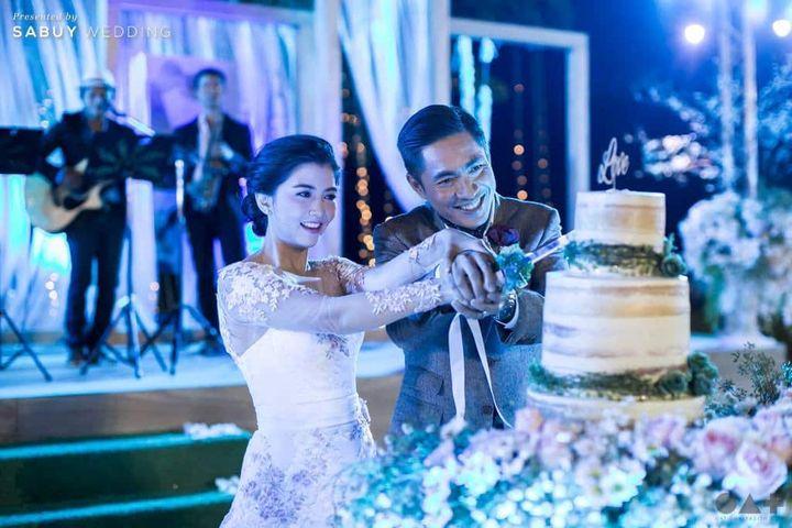พิธีแต่งงาน,บ่าวสาว,งานแต่งดารา,ชุดเจ้าสาว,ตัดเค้กงานแต่ง อบอุ่นสุดวินเทจ งานแต่งท่ามกลางผืนป่า โอ๋เพชรดาและฟิวส์ กิตติศักดิ์