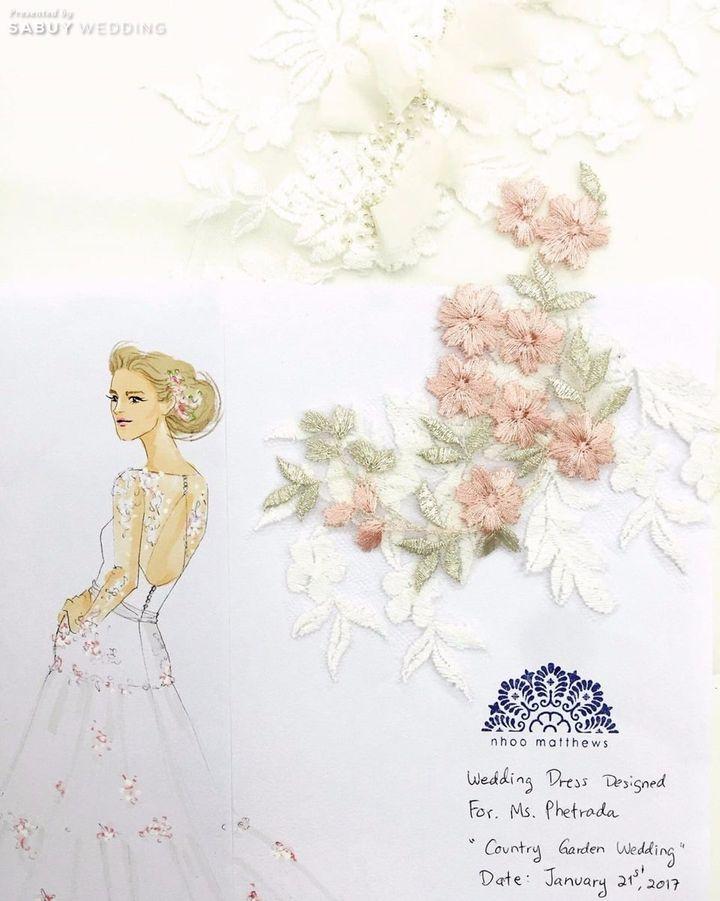 ชุดเจ้าสาว,ชุดแต่งงาน,ภาพสเก็ตช์ Nhoo Matthews Atelier ครีเอทชุดแต่งงานในฝัน รังสรรค์ด้วยเทคนิคระดับ Haute Couture