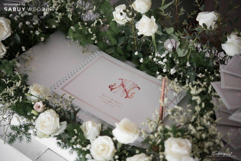 สมุดเขียนอวยพร,จัดดอกไม้งานแต่ง รีวิวงานแต่งแห่งปีของอยุธยา หรูหราด้วยโทนสี Rose Gold @Krungsri River Hotel