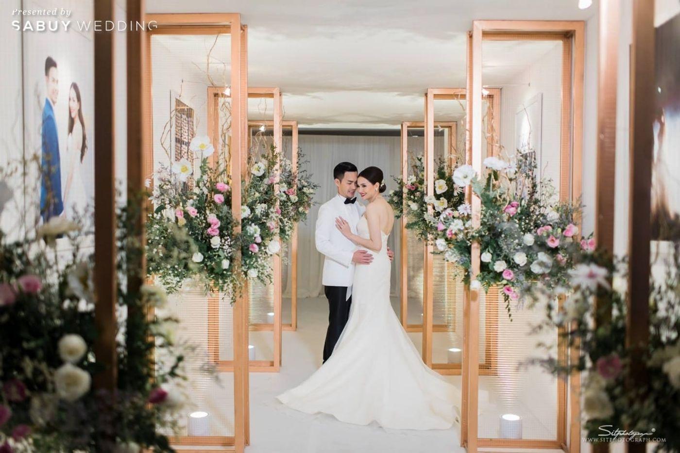 บ่าวสาว,ชุดบ่าวสาว,ชุดเจ้าสาว,ชุดเจ้าบ่าว,จัดดอกไม้งานแต่ง,ตกแต่งงานแต่ง รีวิวงานแต่งแห่งปีของอยุธยา หรูหราด้วยโทนสี Rose Gold @Krungsri River Hotel