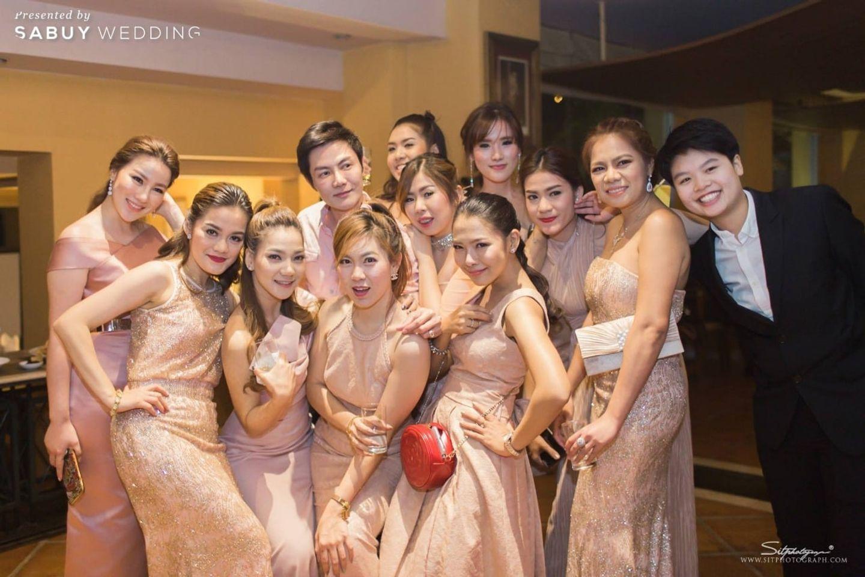 เพื่อนเจ้าสาว,ชุดเพื่อนเจ้าสาว รีวิวงานแต่งแห่งปีของอยุธยา หรูหราด้วยโทนสี Rose Gold @Krungsri River Hotel
