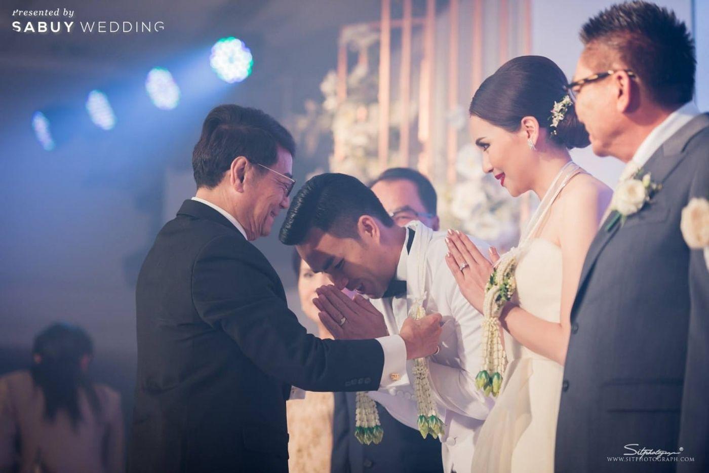 พิธีแต่งงาน,งานแต่งงาน,บ่าวสาว รีวิวงานแต่งแห่งปีของอยุธยา หรูหราด้วยโทนสี Rose Gold @Krungsri River Hotel
