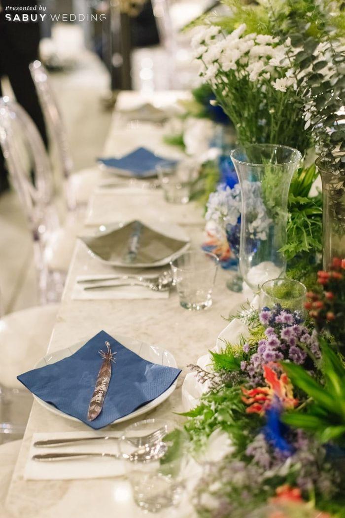 long-table,ตกแต่งงานแต่ง รีวิวงานแต่งโรแมนติกแฟนตาซี ที่ได้แรงบันดาลใจจาก Harry Potter! @Vivarium by Chef Ministry
