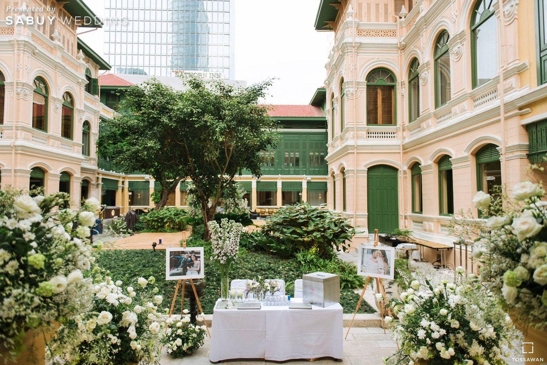 สถานที่แต่งงาน,สถานที่จัดงานแต่งงาน,ตกแต่งงานแต่ง,โต๊ะลงทะเบียนงานแต่ง,จัดดอกไม้งานแต่ง รีวิวงานแต่ง Long Table สไตล์ฝรั่ง ในสถานที่สุดคลาสสิก @The House on Sathorn