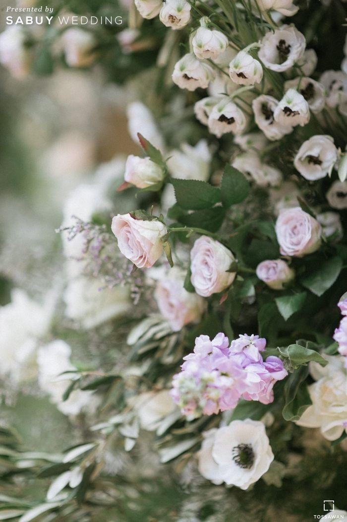 ดอกไม้ รีวิวงานแต่ง Long Table สไตล์ฝรั่ง ในสถานที่สุดคลาสสิก @The House on Sathorn