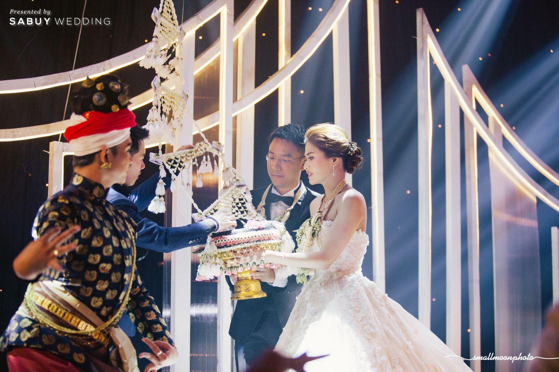 พิธีแต่งงาน,บ่าวสาว,ชุดบ่าวสาว,แขวนตุง รีวิวงานแต่งเสน่ห์ความเป็นไทย ในงานเลี้ยงฉลองเย็น @Plaza Athénée Bangkok