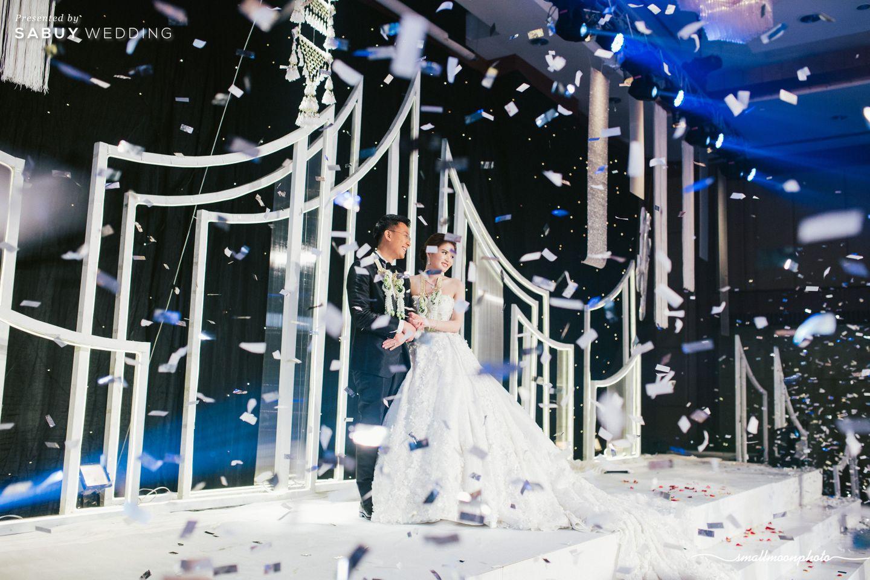 บ่าวสาว,ชุดบ่าวสาว,งานแต่งงาน,backdrop งานแต่ง รีวิวงานแต่งเสน่ห์ความเป็นไทย ในงานเลี้ยงฉลองเย็น @Plaza Athénée Bangkok
