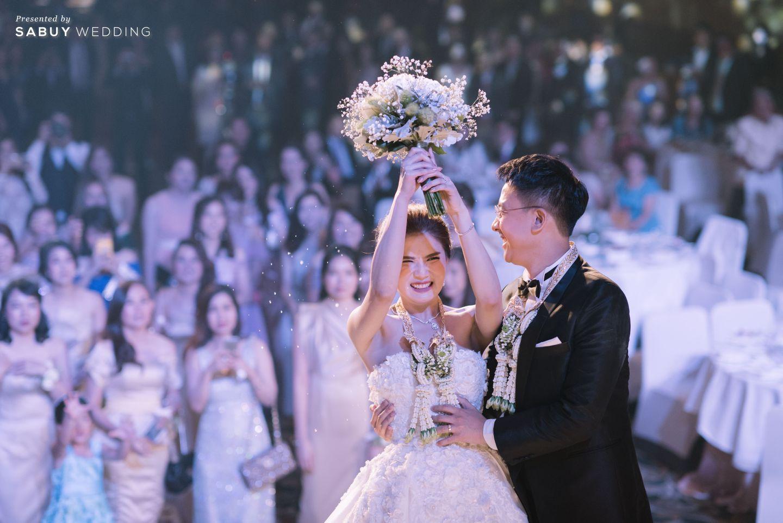 บ่าวสาว,โยนดอกไม้เจ้าสาว,ชุดบ่าวสาว รีวิวงานแต่งเสน่ห์ความเป็นไทย ในงานเลี้ยงฉลองเย็น @Plaza Athénée Bangkok