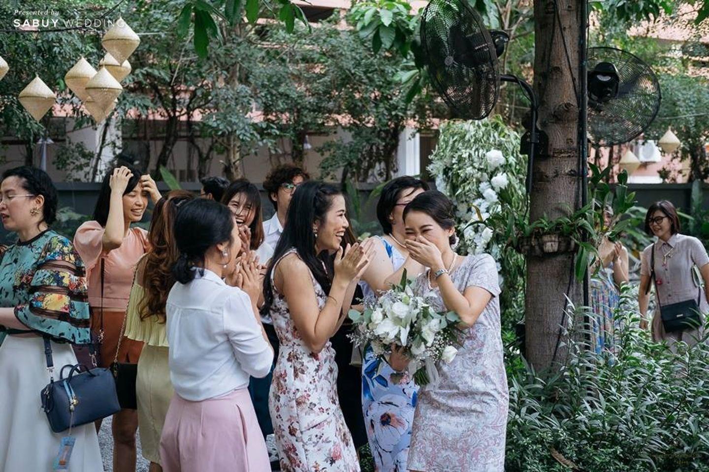 เพื่อนเจ้าสาว รีวิวงานแต่งโรแมนติกมินิมอล อบอุ่นความหวาน ท่ามกลางร่มไม้ในสวน @The Gardens of Dinsor Palace