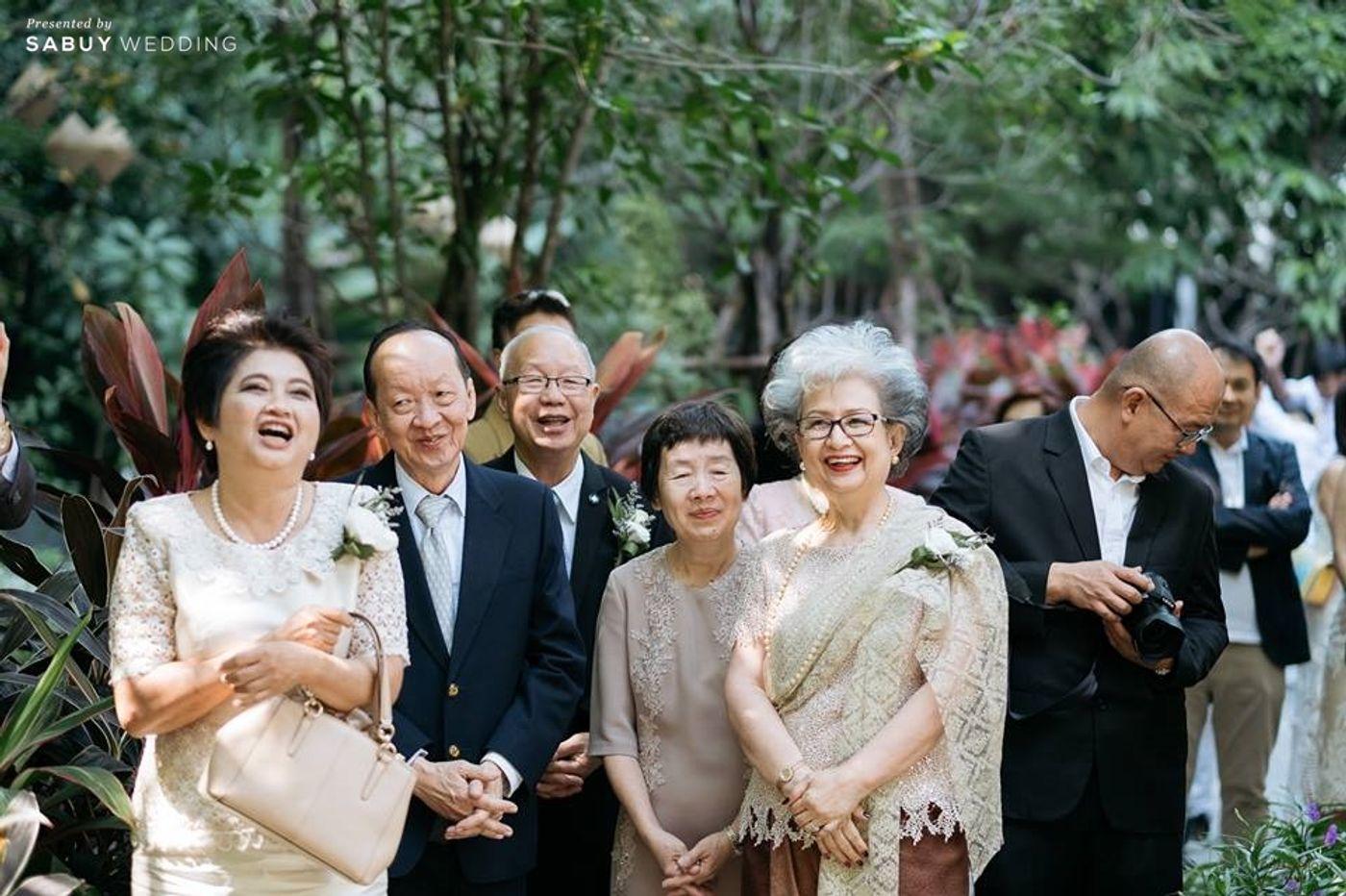 ครอบครัวบ่าวสาว,งานแต่งงาน รีวิวงานแต่งโรแมนติกมินิมอล อบอุ่นความหวาน ท่ามกลางร่มไม้ในสวน @The Gardens of Dinsor Palace