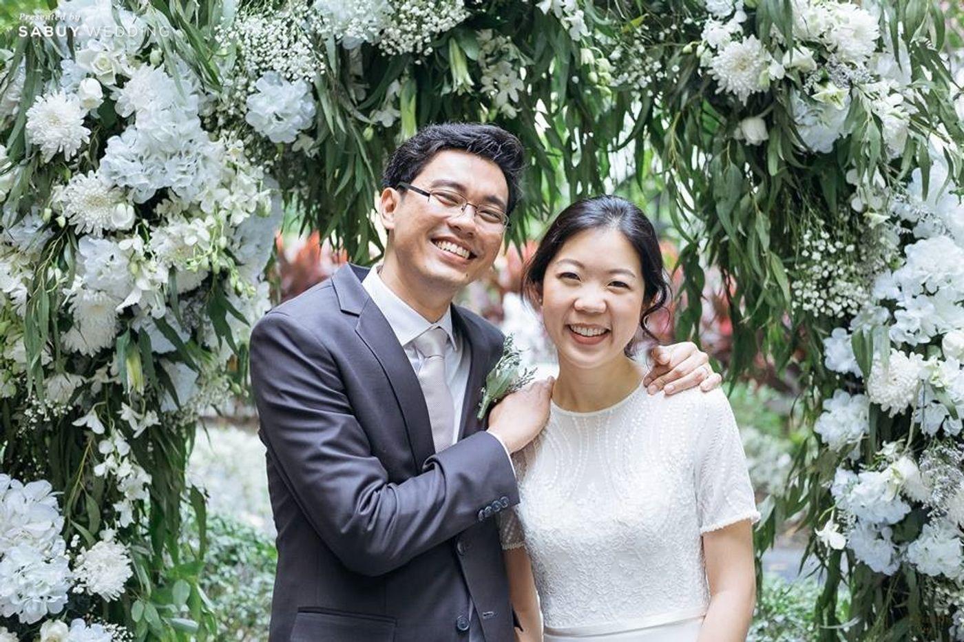 บ่าวสาว,ชุดบ่าวสาว,รูปงานแต่ง,จัดดอกไม้งานแต่ง รีวิวงานแต่งโรแมนติกมินิมอล อบอุ่นความหวาน ท่ามกลางร่มไม้ในสวน @The Gardens of Dinsor Palace