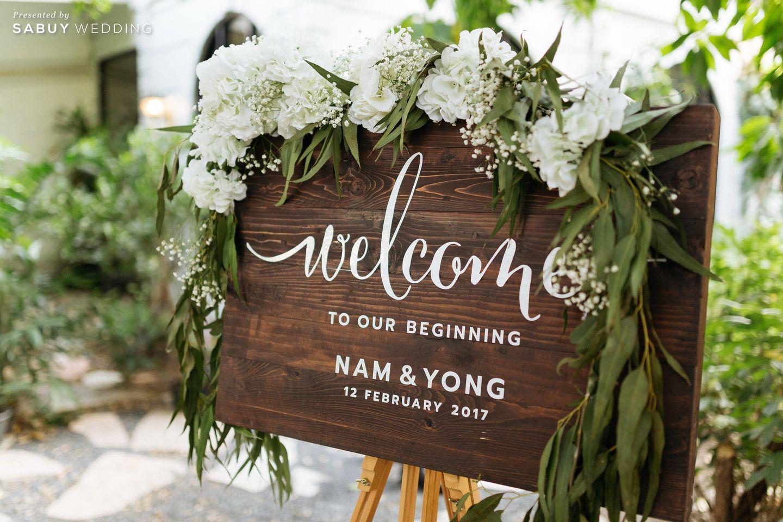 ตกแต่งงานแต่ง,จัดดอกไม้งานแต่ง รีวิวงานแต่งโรแมนติกมินิมอล อบอุ่นความหวาน ท่ามกลางร่มไม้ในสวน @The Gardens of Dinsor Palace