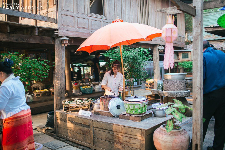 อาหาร รีวิวงานแต่งธีมผ้าฝ้ายสบายๆ สไตล์ล้านนา @หอวัฒนธรรมพื้นบ้านไท-ยวน สระบุรี