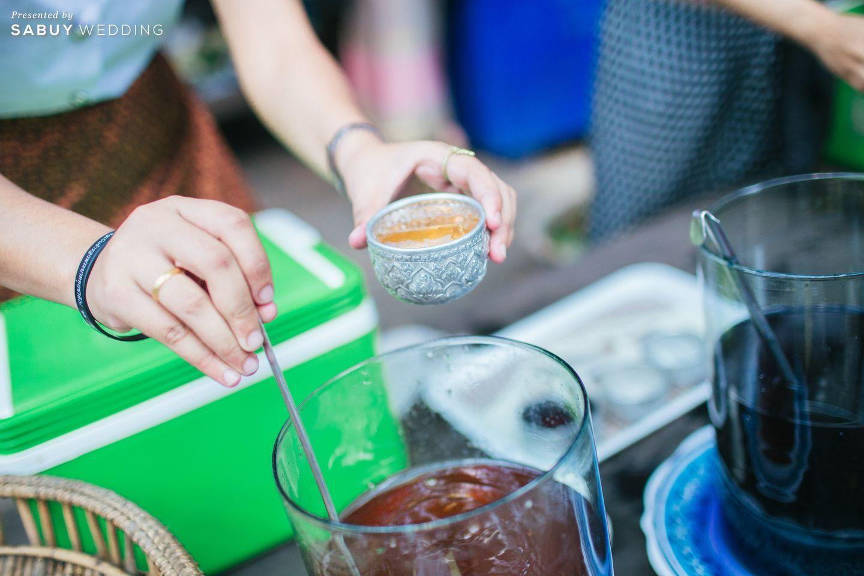 เครื่องดื่ม รีวิวงานแต่งธีมผ้าฝ้ายสบายๆ สไตล์ล้านนา @หอวัฒนธรรมพื้นบ้านไท-ยวน สระบุรี