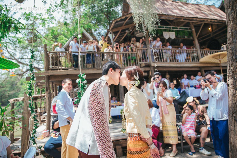 พิธีแต่งงาน,บ่าวสาว,รูปงานแต่ง,ชุดบ่าวสาว รีวิวงานแต่งธีมผ้าฝ้ายสบายๆ สไตล์ล้านนา @หอวัฒนธรรมพื้นบ้านไท-ยวน สระบุรี