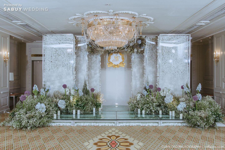 จัดดอกไม้งานแต่ง,ตกแต่งงานแต่ง,backrop งานแต่ง รีวิวงานแต่ง Winter Wonderland ฉากสวยเป๊ะปัง อลังเว่อร์ @Mandarin Oriental
