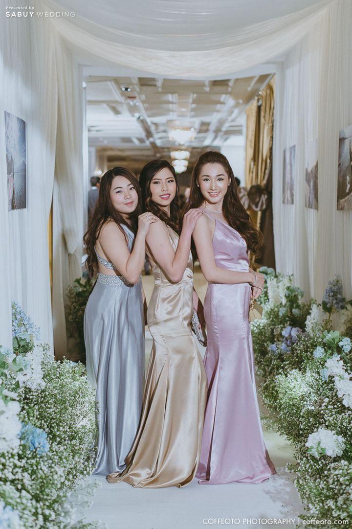 เพื่อนเจ้าสาว,ชุดเพื่อนเจ้าสาว,จัดดอกไม้งานแต่ง รีวิวงานแต่ง Winter Wonderland ฉากสวยเป๊ะปัง อลังเว่อร์ @Mandarin Oriental