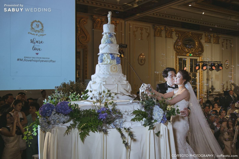 พิธีแต่งงาน,เค้กงานแต่ง,บ่าวสาว,จัดดอกไม้งานแต่ง รีวิวงานแต่ง Winter Wonderland ฉากสวยเป๊ะปัง อลังเว่อร์ @Mandarin Oriental