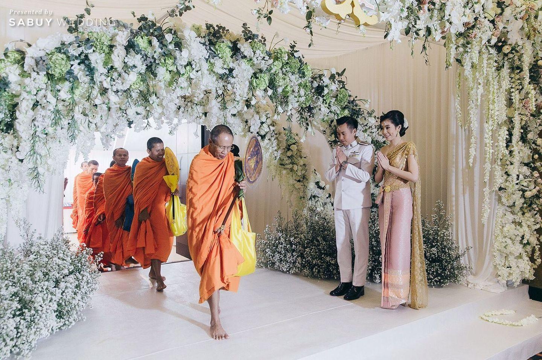 พิธีหมั้น,งานหมั้น,ชุดหมั้น,จัดดอกไม้งานแต่ง รีวิวงานแต่งงานในฝัน สวยจบ ครบทุกฟีลใน 1 ฟลอร์ @The Landmark Bangkok