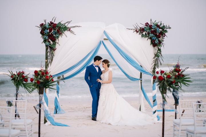 เวดดิ้งโชว์เคสจัดเต็ม เนรมิตรีสอร์ทริมทะเลเป็นสถานที่แต่งงานในฝัน @Hua Hin Marriott Resort & Spa