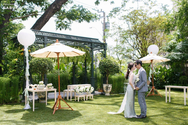 เจ้าบ่าว,เจ้าสาว รีวิวงานแต่งในสวนสวย ร่มรื่นด้วยแมกไม้ธรรมชาติ @ The Botanical House Bangkok