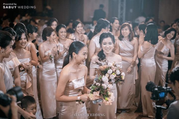 เพื่อนเจ้าสาว,ดอกไม้เจ้าสาว รีวิวงานแต่งโทนหวาน จัดงานสวยฟุ้งเหมือนโลกแห่งความฝัน @ The Peninsula Bangkok