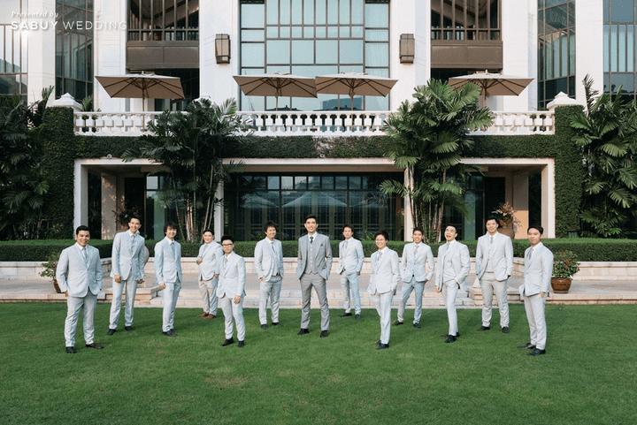เจ้าบ่าว,เพื่อนเจ้าบ่าว รีวิวงานแต่งโทนหวาน จัดงานสวยฟุ้งเหมือนโลกแห่งความฝัน @ The Peninsula Bangkok