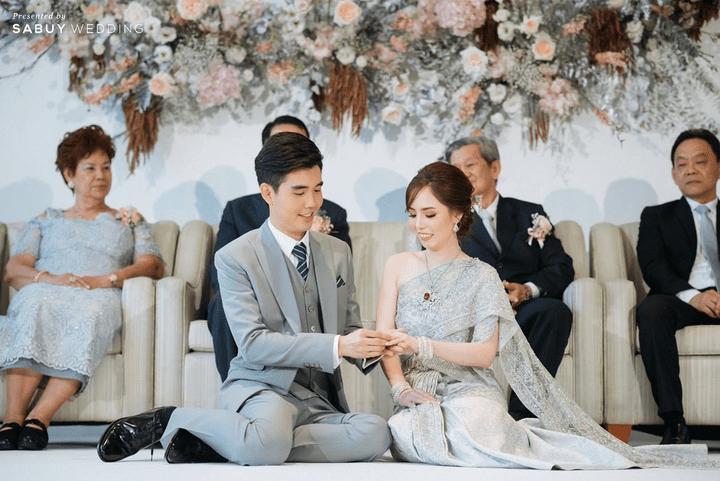 เจ้าสาว,พิธีแต่งงาน,เจ้าบ่าว รีวิวงานแต่งโทนหวาน จัดงานสวยฟุ้งเหมือนโลกแห่งความฝัน @ The Peninsula Bangkok