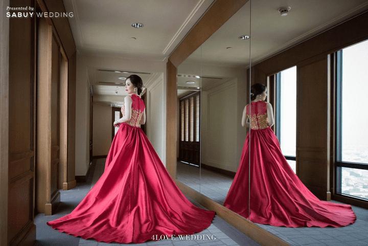 ชุดเจ้าสาว รีวิวงานแต่งโทนหวาน จัดงานสวยฟุ้งเหมือนโลกแห่งความฝัน @ The Peninsula Bangkok