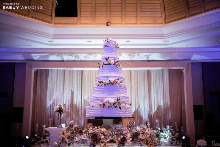 เค้กแต่งงาน รีวิวงานแต่งโทนหวาน จัดงานสวยฟุ้งเหมือนโลกแห่งความฝัน @ The Peninsula Bangkok