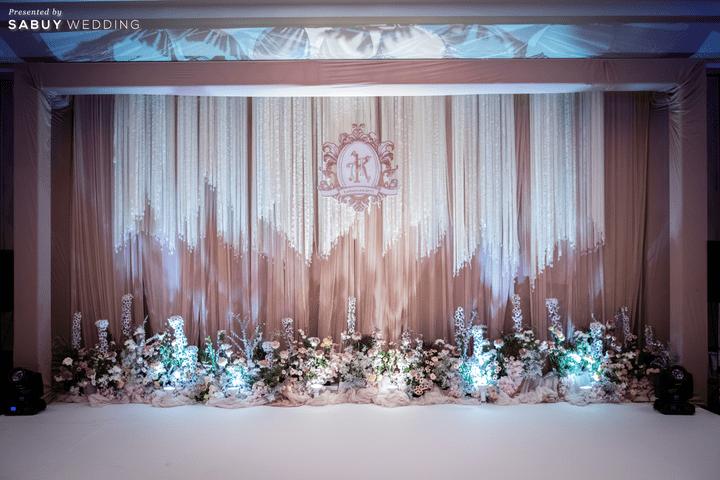 แบ็คดรอป,ตกแต่งงานแต่งงาน,เวทีแต่งงาน รีวิวงานแต่งโทนหวาน จัดงานสวยฟุ้งเหมือนโลกแห่งความฝัน @ The Peninsula Bangkok