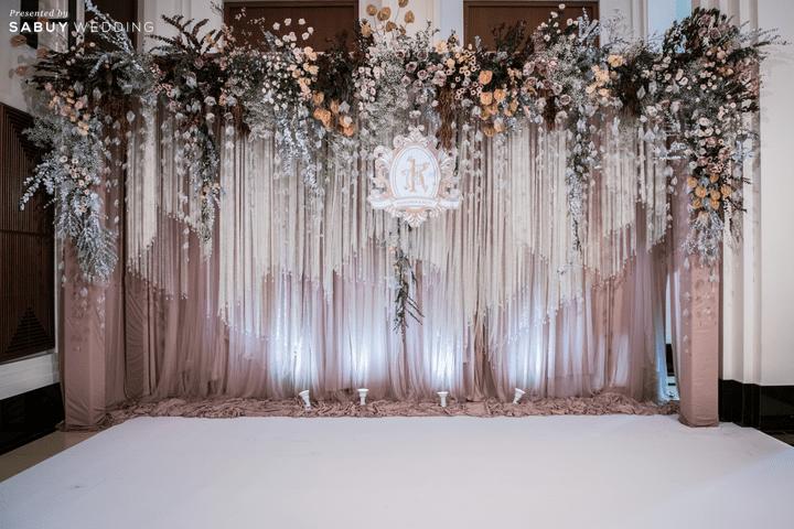แบ็คดรอป,ตกแต่งงานแต่งงาน รีวิวงานแต่งโทนหวาน จัดงานสวยฟุ้งเหมือนโลกแห่งความฝัน @ The Peninsula Bangkok