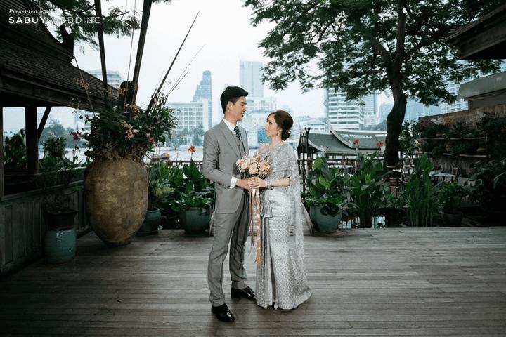 เจ้าบ่าว,เจ้าสาว,ช่อดอกไม้ รีวิวงานแต่งโทนหวาน จัดงานสวยฟุ้งเหมือนโลกแห่งความฝัน @ The Peninsula Bangkok