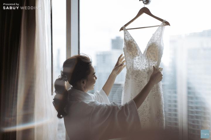 ชุดแต่งงาน,ชุดเจ้าสาว,เจ้าสาว รีวิวงานแต่งสวยปังดูดี ด้วยโทนสีและจอ LED สุดอลัง @ Conrad Bangkok