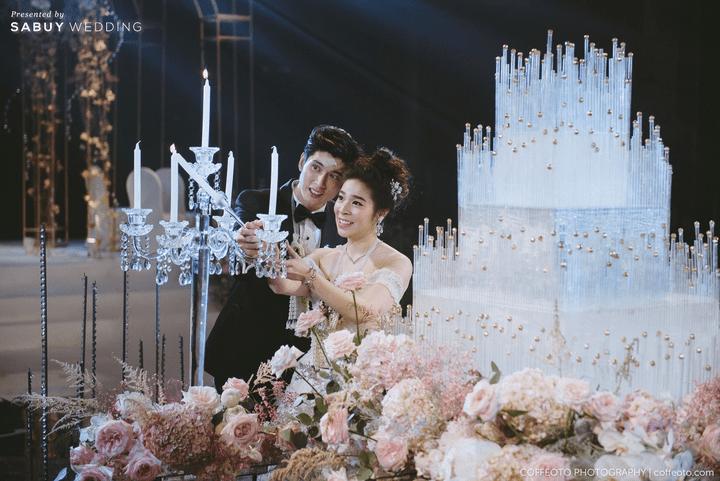 ชุดแต่งงาน,งานแต่งงาน,เค้กแต่งงาน รีวิวงานแต่งสวยปัง อลังกับชุดเจ้าสาว Glow in the dark เรืองแสงได้ @ InterContinental Bangkok