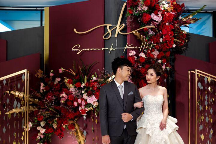 รีวิวงานแต่งสวยปังดูแพง กับโทนสี Red Burgundy @ Chatrium Hotel Riverside Bangkok