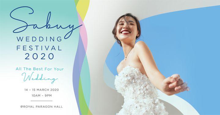 'SabuyWedding Festival 2020' ครั้งเดียวในรอบปี! ที่ให้คุณช็อป ชิลล์ สบายใจ ไม่ฮาร์ดเซล!