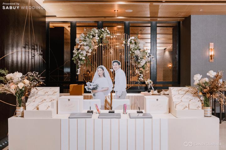 ตกแต่งงานแต่งงาน,สถานที่แต่งงาน รีวิวงานแต่งธีมสี Taupe สวยดูดีแบบ Luxury Style @ Hyatt Regency Bangkok Sukhumvit