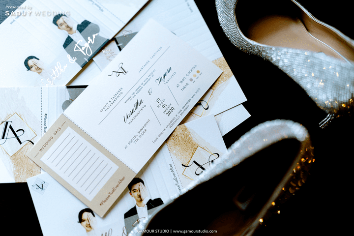 การ์ดแต่งงาน,รองเท้าเจ้าสาว รีวิวงานแต่งมินิมอลสไตล์ สวยสบายตาด้วยโทนสีขาวคลีน @ Sofitel Bangkok Sukhumvit