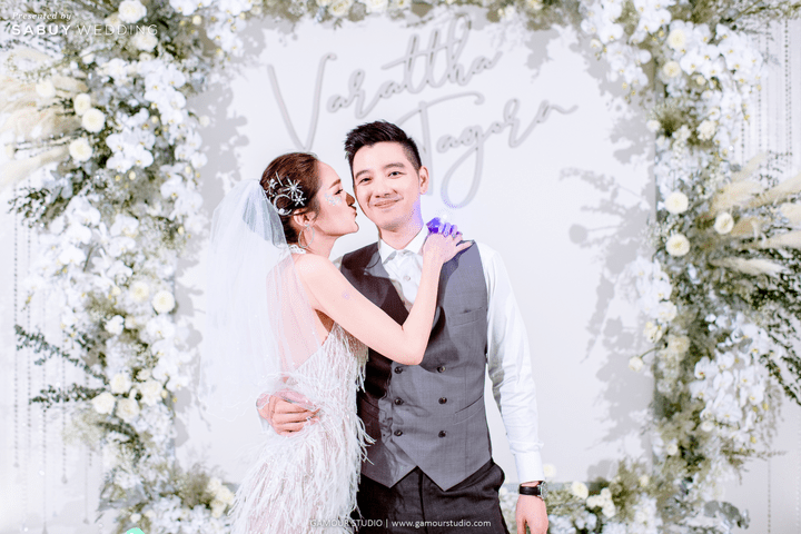 ชุดแต่งงาน,เจ้าบ่าว,เจ้าสาว รีวิวงานแต่งมินิมอลสไตล์ สวยสบายตาด้วยโทนสีขาวคลีน @ Sofitel Bangkok Sukhumvit