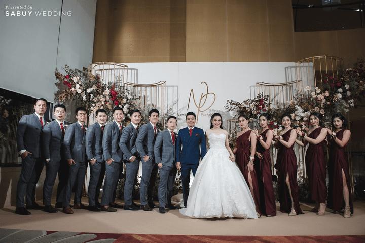 สถานที่จัดงานแต่งงาน, ชุดบ่าวสาว, backdrop, ชุดเพื่่อนบ่าวสาว รีวิวงานแต่งสุดประทับใจ เซอร์ไพรส์ After Party ด้วยเพลงยอดฮิต @ Bangkok Marriott Hotel Sukhumvit