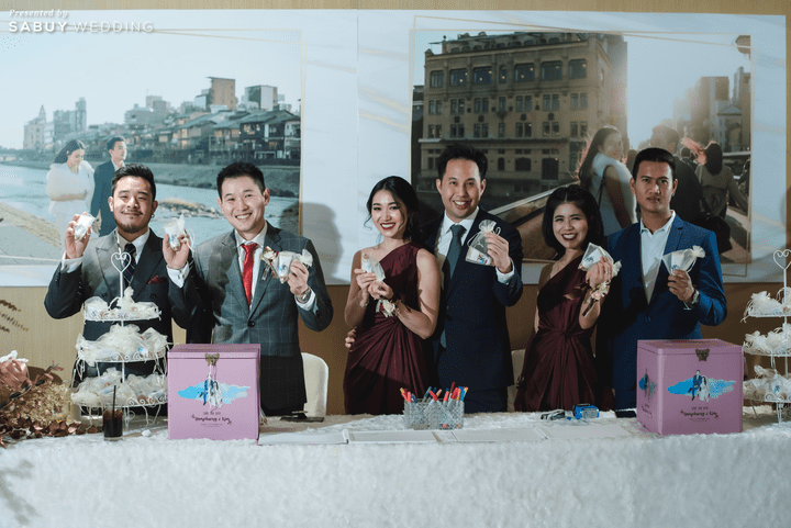 ชุดเพื่อนบ่าวสาว, ของชำร่วย รีวิวงานแต่งสุดประทับใจ เซอร์ไพรส์ After Party ด้วยเพลงยอดฮิต @ Bangkok Marriott Hotel Sukhumvit