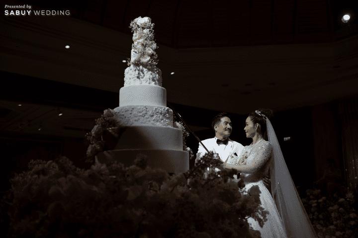 เค้กแต่งงาน รีวิวงานแต่งริมน้ำชวนฝัน สวยอลังการ ได้งานครบทุกพิธี @The Peninsula Bangkok