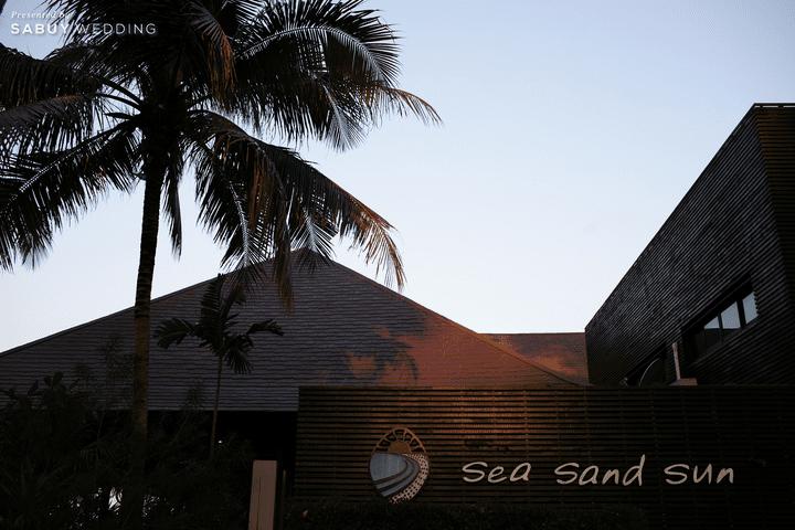 รีวิวงานแต่งริมทะเลสุดโรแมนติก สวยเก๋ด้วยพลุม่านน้ำตก @ Sea Sand Sun Resort and Villas